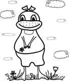 ector sketch duck Stock Photo