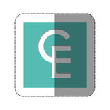 ECU currency symbol icon Stock Images
