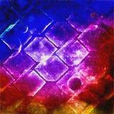 Ecuación cuadrática del espacio Foto de archivo libre de regalías