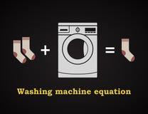 Ecuación de la lavadora - plantilla divertida de la inscripción Foto de archivo libre de regalías