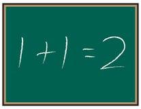Ecuación de la matemáticas en la pizarra Imagen de archivo