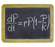 Ecuación del crecimiento demográfico Fotos de archivo libres de regalías