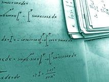 Ecuaciones imagen de archivo libre de regalías