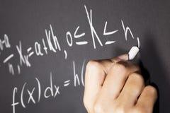 Ecuaciones de la matemáticas Imágenes de archivo libres de regalías