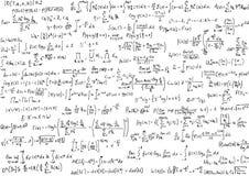 Ecuaciones de la matemáticas Fotografía de archivo