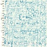 Ecuaciones físicas ilustración del vector