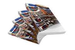 Ecuadoor book. A book of the Ecuadoor  white  background Royalty Free Stock Photography
