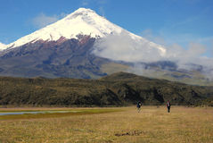 Ecuador 2008 - Cotopaxi-Wanderung Lizenzfreie Stockfotografie