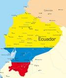 Ecuador vektor illustrationer