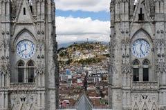 Ecuador, Ansicht über den Quito stockbild