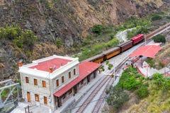 Ecuador-Bahnstation Stockfotografie