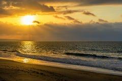 Ecuador Beach Sunset Stock Image