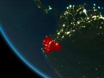 Ecuador bij nacht van baan Royalty-vrije Stock Afbeelding