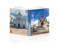 Ecuador churches. A book of the Ecuadoor ON  white  background Stock Images