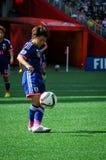 Ecuador contra Japón Mundial de la FIFA Women's imagenes de archivo