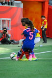 Ecuador contra Japón Mundial de la FIFA Women's imagen de archivo libre de regalías