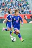 Ecuador contra Japón Mundial de la FIFA Women's foto de archivo libre de regalías