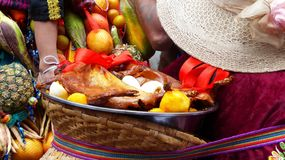 Ecuador cuenca Parada Pase Del Nino Viajero Koń dekoracja dla parady obrazy royalty free
