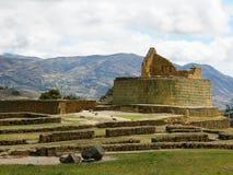 Ecuador, de oude plaats van Ingapirca Inca Stock Fotografie