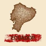 Ecuador distressed map. Stock Photo