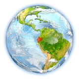 Ecuador on Earth isolated Royalty Free Stock Image