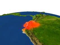 Ecuador en rojo de la órbita libre illustration