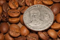 ecuador för bönakaffemynt republik Royaltyfria Bilder