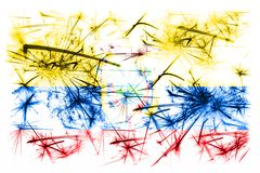 Ecuador fireworks sparkling flag. New Year 2019 and Christmas party concept. Ecuador fireworks sparkling flag. New Year 2019 and Christmas party concept royalty free illustration