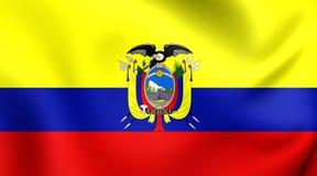 ecuador flagę Zdjęcia Royalty Free