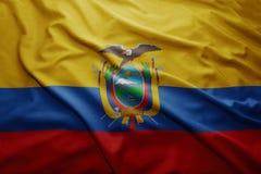 ecuador flagę Obrazy Stock