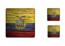 Ecuador Flag Buttons Royalty Free Stock Photos
