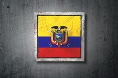 Ecuador flag in concrete wall Stock Photos