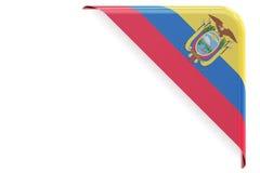 Ecuador flag corner, button. 3D rendering Stock Photography