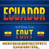 Ecuador Flag Font Royalty Free Stock Images