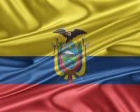 Ecuador flag with a glossy silk texture. Stock Photography