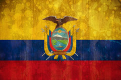 Ecuador flag in grunge effect Stock Photo