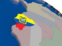 Ecuador with flag Royalty Free Stock Photography