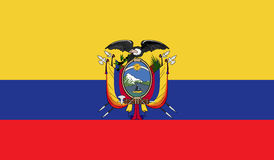 Ecuador flag image. For any design in simple style Royalty Free Stock Photos