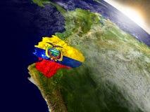 Ecuador with flag in rising sun Royalty Free Stock Photos