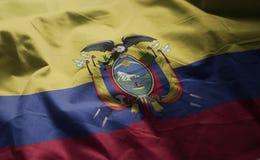 Ecuador Flag Rumpled Close Up.  royalty free stock image