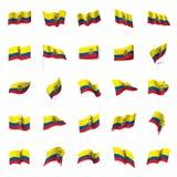 Ecuador flag, vector illustration Stock Photography
