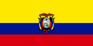 ecuador flaga ilustracja wektor