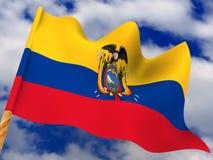 ecuador flagga royaltyfria bilder