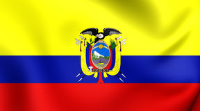 ecuador flagga royaltyfri illustrationer