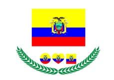Ecuador-Flaggenvektorillustration Ecuador-Flagge Staatsflagge von Stockfotografie