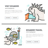 Ecuador flyer design royalty free illustration