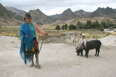 ecuador folk Royaltyfri Foto