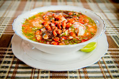 Ecuador food: shrimp and fish ceviche, raw fish Royalty Free Stock Photography