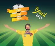 Ecuador football fan Stock Photos