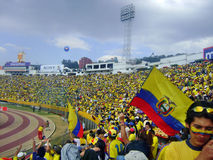 Ecuador football game. Match in Quito Stock Images